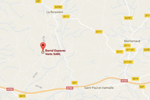 map Barral espaces verts