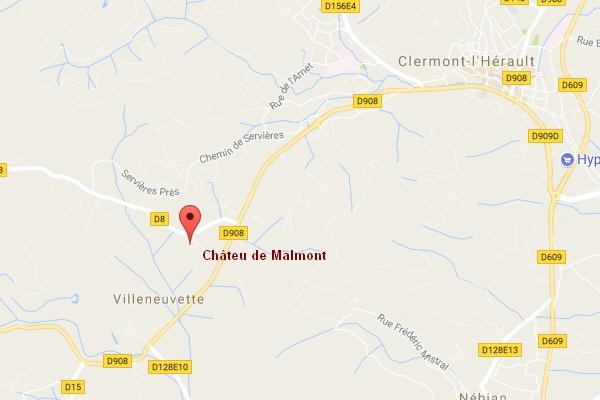 map Château de Malmont